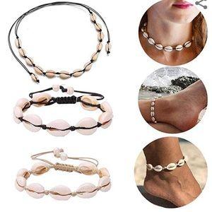 Beach party choker necklaces, bracelet